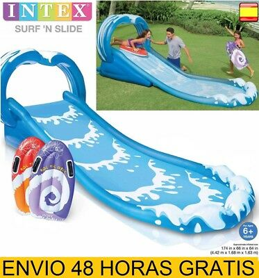 Tobogán de agua hinchable SURF inflable 442X168X163cm INTEX