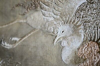 Huge Superb Antique Chinese Birds Silk Embroidery Tapestry -- Fabulous !! No Res