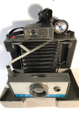 Vintage Polaroid Land Camera Untested Timer Case Manual Parts Repair Untested
