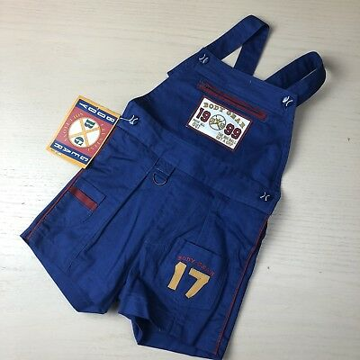 Vintage Body Gear Shortalls 4t NWT Deadstock Ball Buttons Blue Sporty