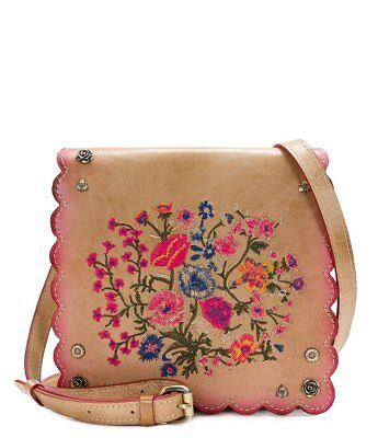 NWT Patricia Nash Prairie Rose Embroidery Granada Leather Crossbody Bag - SEALED