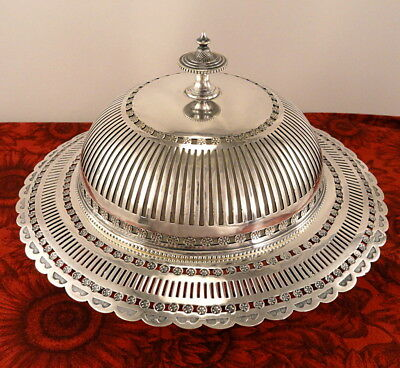 Antique Victorian English Silver Plate Butter Dish Frederick Ellis Timm & Co.