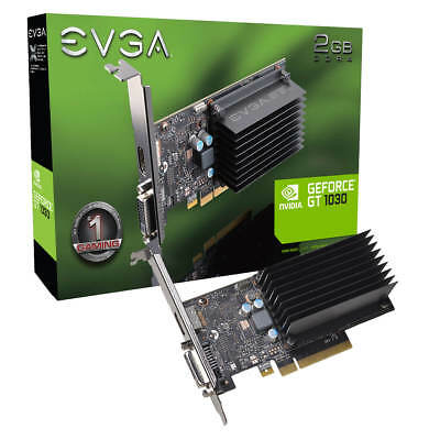 EVGA GeForce GT 1030 DDR4, 2GB SDDR4, Passive, Low Profile, 02G-P4-6232-KR