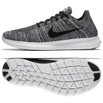 da8de2aeaa8 Nike Free RN Flyknit Run Natural Oreo 831069-100 White Black Men s Running  Shoes