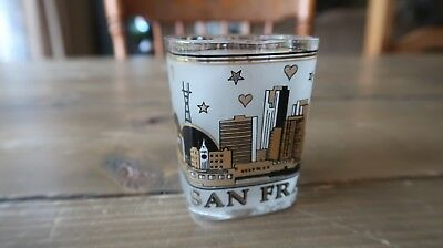Vintage San Francisco Skyline Shot Glass