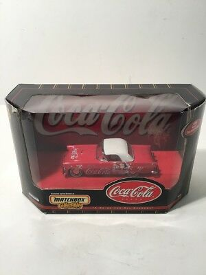 Matchbox Collectibles Die Cast Car W Coca Cola Advertising '55 Ford Thunderbird
