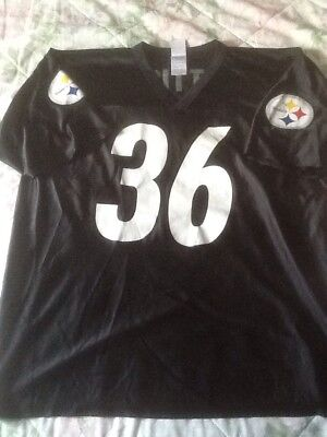de2b9527145 NFL Players Pittsburgh Steelers #36 Jerome Bettis men's Black size XL