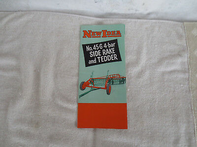 VINTAGE NEW IDEA No.45-G 4-BAR SIDE RAKE & TEDDER SALES LITERATURE BROCHURE