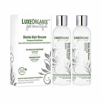 Biotin Shampoo And Conditioner for Hair Growth; Soothes Dry Itchy Scalp With ...