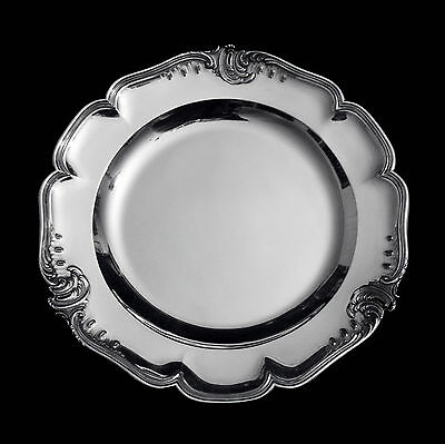 Two Christofle Antique French 950 Sterling Silver Serving Platters,1850-1899