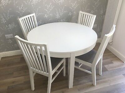 Prime Round Extending White Wooden Ikea Dining Table Bjursta And Pdpeps Interior Chair Design Pdpepsorg