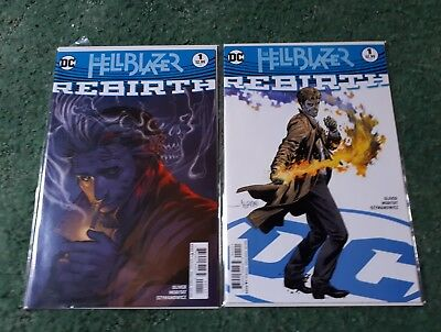 Hellblazer Rebirth #1 DC Comics 2016 First print variant and normal cover. NM/VF