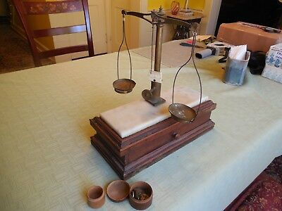 Antique Apothecary Balance Scale with Weights