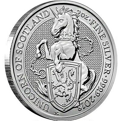 2 oz. Silber 999.9 **The Queen´s Beasts 2018 - The Unicorn of Scotland**