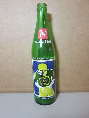 1977 National Champs Notre Dame Irish 1978 Cotton Bowl NCAA Football 7UP Bottle
