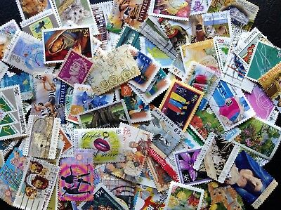 100 Australian Decimal Stamps Bulk Kiloware Collection Used Off Paper