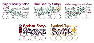 Loyalty Cards 30 Personalised Hairdresser Barber Nails Tanning Beauty Salons