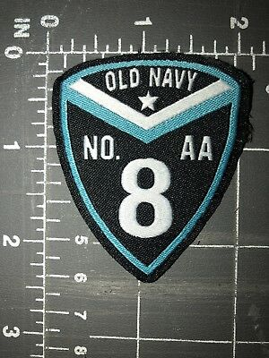 Old Navy No. 8 AA Shield Patch # Eight Number Gap Banana Republic Athleta Clothe