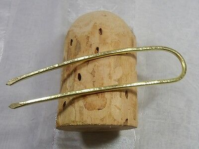 Haarforke / Haargabel, Stab Messing, Brass Wire!Haarnadel, Hairpin Neu!!!