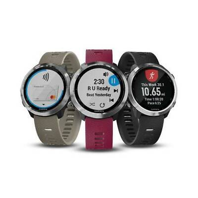 Garmin Forerunner 645 GPS Running Smart Watch (Black/Cerise/Sandstone)