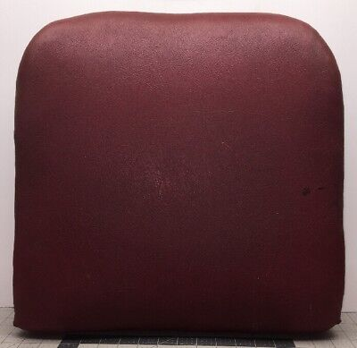 "Theo A Kochs Barber Shop Chair Red Vinyl Seat Back Backrest 17.5""Hx17.5""Wx4.5""D"