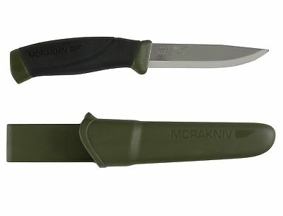 Morakniv Companion Fixed Blade Outdoor Knife with Sandvik Stainless Steel Blade,