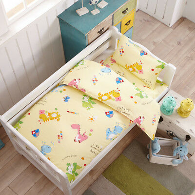 Yellow Dinosaur New Baby Bedding Crib Cot Set Quilt Cover Padded Cotton Nursery