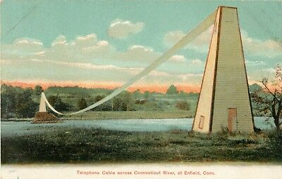 The Telephone Cable Across The Connecticut River, Enfield, Connecticut CT 1907
