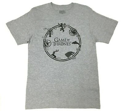 Game Of Thrones HOUSE SIGILS RING T-Shirt NWT 100% Authentic