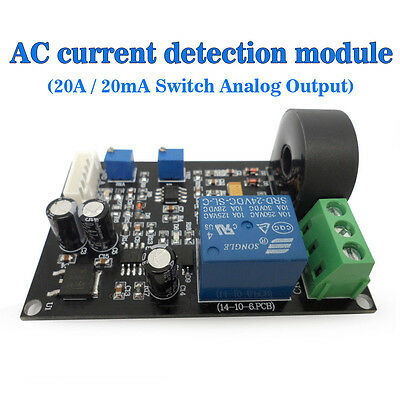 (US) Output Delay AC Current Detection Module 20A / 20mA Analogue Output Switch