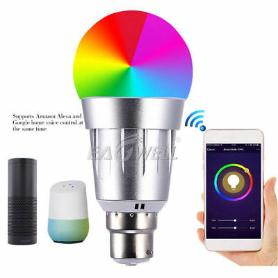 RGBW 7W WiFi Remote Smart LED Magic Ball Bulb Light Timing For Alexa Google Home