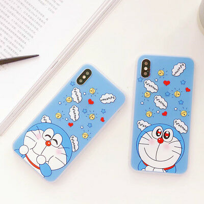 Doraemon Phone Case Silicone Cartoon Shockproof Cover For iPhone X 8 7 6/6S Plus