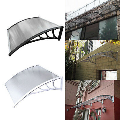 New Door Canopy Awning Shelter Front And Back Door Awning Polycarbonate 6 Sizes