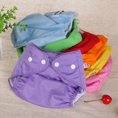 Kids Waterproof Reusable Nappy Soft Washable Inserts Covers Cloth Diapers Pants