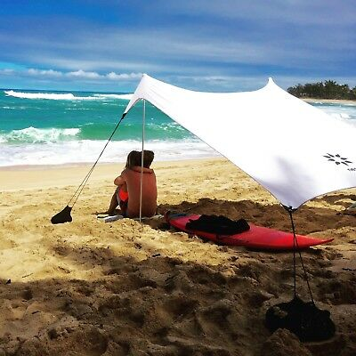 Neso Tents Beach Tent with Sand Anchor, Portable Canopy Sun Shelter (White)