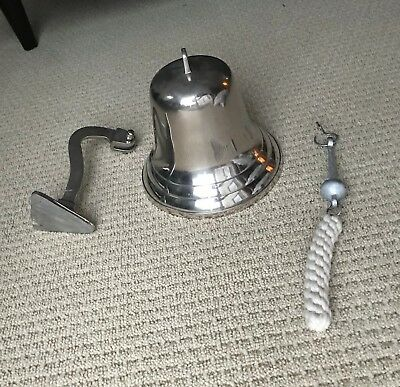 "9"" Large aluminum ship's bell"