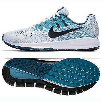 82463f94ac409 Nike Air Zoom Structure 20 849576-101 White Black Blustery Men s Shoes Sz