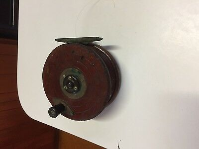 Vintage timber and brass fishing reel, wooden,  great condition
