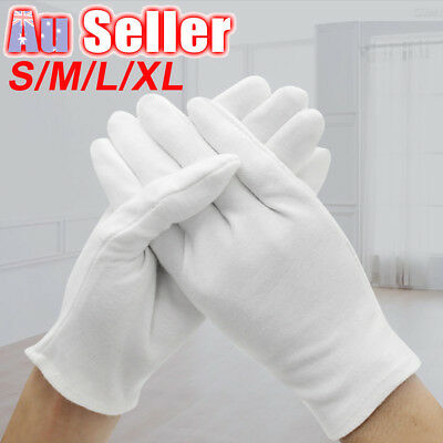 6 Pairs Handling Work Hands Protector Soft Costume Jewellery Cotton White Gloves