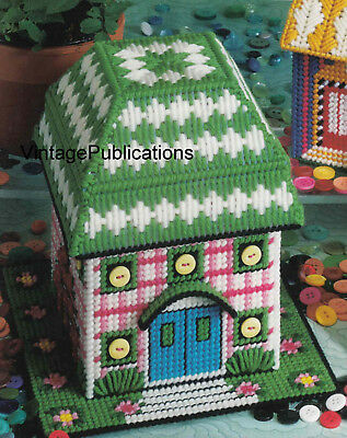 Plastic Canvas PATTERN .. Tissue House PATTERN .. Laminated Copy
