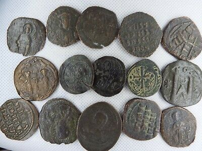 MC-9 MIXED LOT OF BYZANTINE  RARE ANCIENT COINS-- 15 pcs