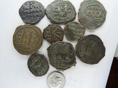 MC-4  MIXED LOT OF BYZANTINE  RARE ANCIENT COINS-- 9 pcs