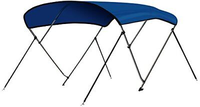 """3 Bow 6'L x 46""""H x 73""""-78""""W Bimini Top Boat Cover 4 Straps for Front and Rear"""