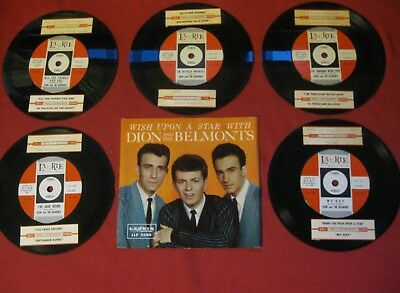 "Dion & The Belmonts ""Artist Of The Week Package"" 1959 Laurie St-607 33 Rpm Rare"