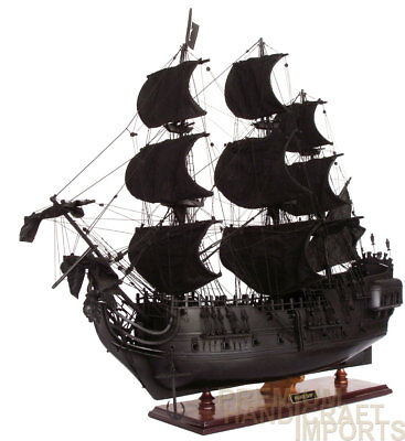 """Blackpearl Pirate Ship Ready Display Wooden Ship Model 36"""""""