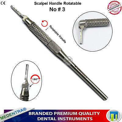 Round Handle Scalpel Rotating 180° Adjustable Point Podiatry Craft Dissection CE