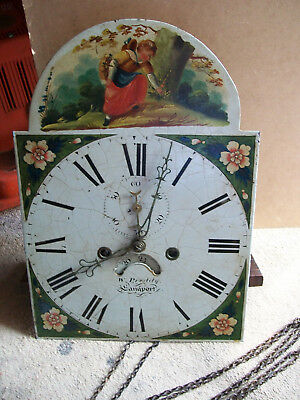 Antique Long Case Grandfather Chain Driven Clock Dial and Movement only