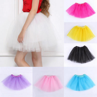 Baby Girls tutu Ballet Dance Dress Wear Party skirt One Size for Kids Custume