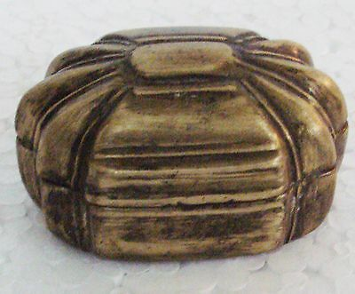 Old Brass Handcrafted Bettel Nuts Supari Box Small , Rich Patina
