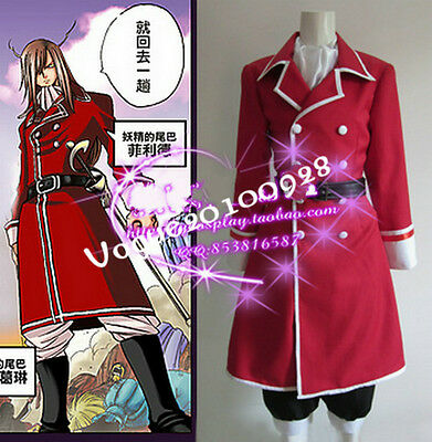 Fairy Tail Freed Cosplay Costume Custom Made L Size